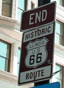 End route 66 in Chicago