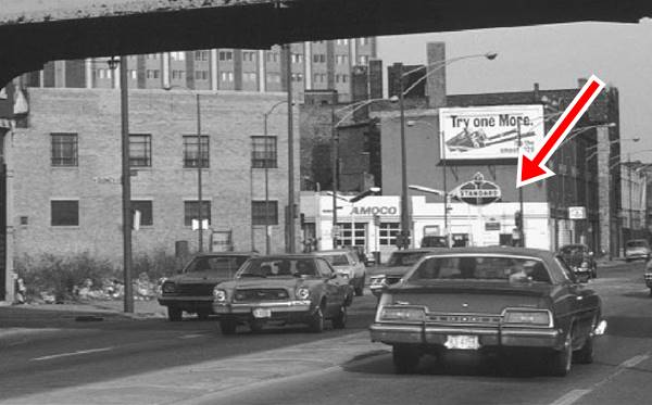 Amoco filling station 1976 photograph in Chicago Route 66