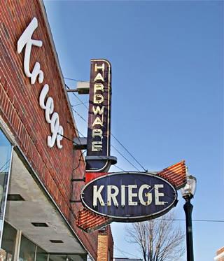 original Kriege neon sign in Edwardsville US66