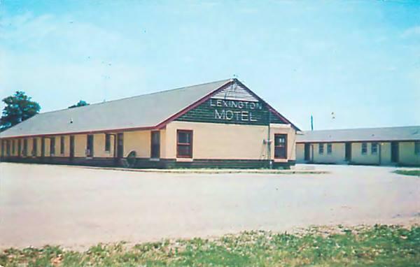Lexington Motel vintage postcard, in Lexington Route 66