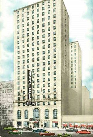 Midland Hotel vintage postcard in Chicago US66