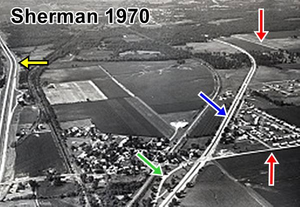 Aerial photograph (1970) of Sherman Route 66