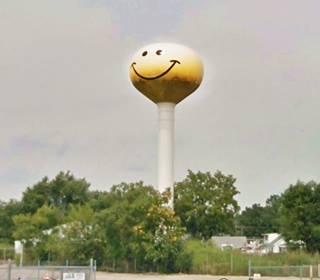 Smiley Face Water Tank in Atlanta US66