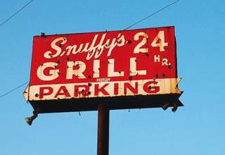 neon sign at Snuffy's in McCook US66