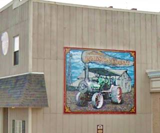 A Tradition of Farming mural in Pontiac US66