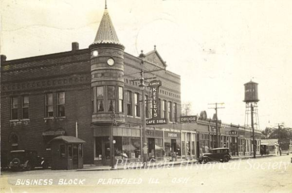 "Opera House Block, ""Turret"" vintage photo in Plainfield Route 66"
