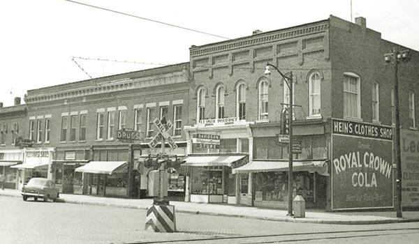 North side of Square 1950s in Virden Route 66