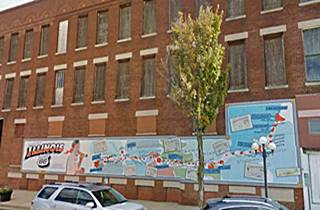 Waldmire Memorial mural in Pontiac US66