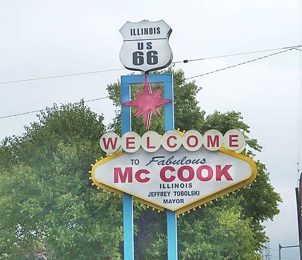 Welcome to McCook neon sign in McCook Route 66