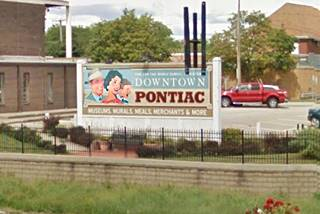 Welcome to Pontiac Mural in Pontiac US66