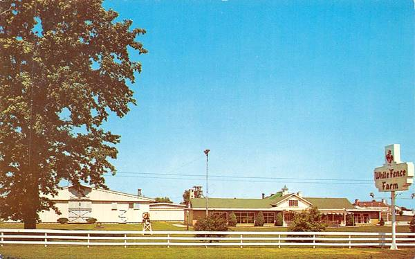 The White Fence Farm vintage postcard in Romeoville Route 66