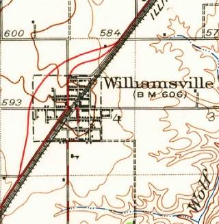 1940 USGS map of Williamsville US66