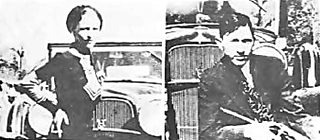 photograph of Bonnie and Clyde