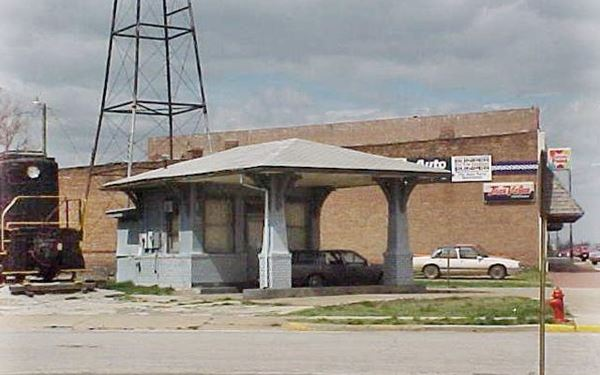 color photo of a closed gas station
