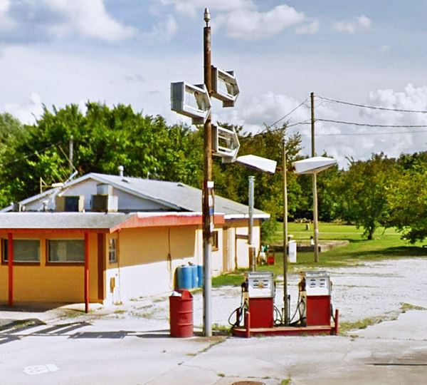Old Gas Station on Route 66 in Galena Kansas