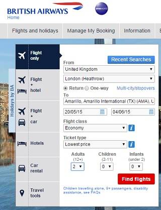 Book your flight online