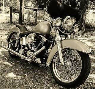 Custom Harley motorcycle