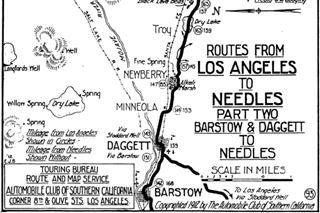 Mojave Desert Map ca. 1913