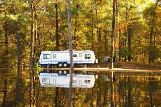 Motorhome camping site