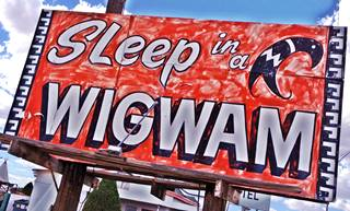 Wigwam Motel Sign, Holbrook AZ, by A. Whittall