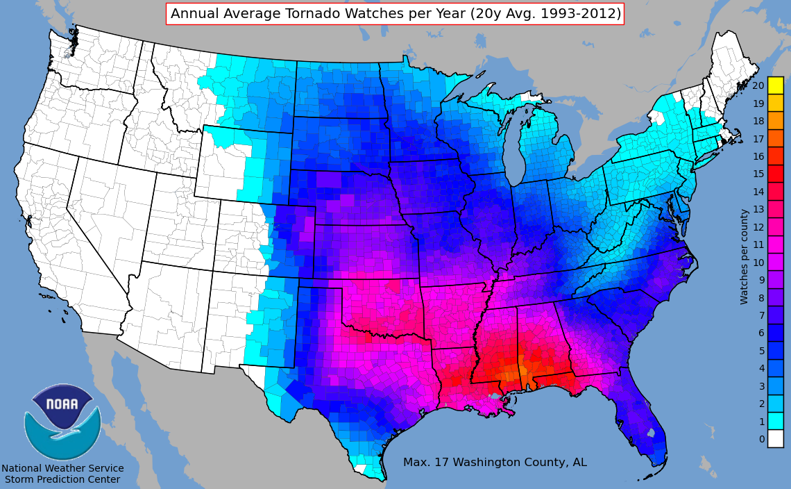 Weather On Route - Us annual temperature map