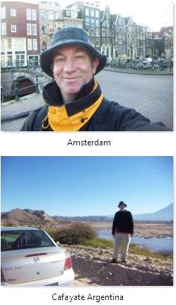 Austin in Amsterdam and Cafayate, Salta, Argentina