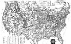 a historic Route 66 map