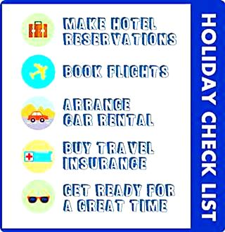 Check list for planning your vacation