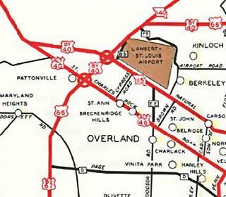 MO DOT Map 1953