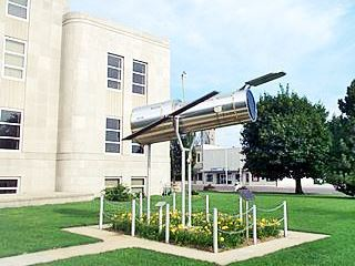 Hubble Space Telescope located at the county courthouse in Marshfield MO