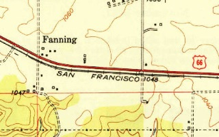 1948 USGS Map of Fanning