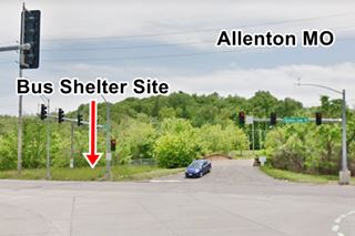 view of the former location of Allenton Bus Shelter