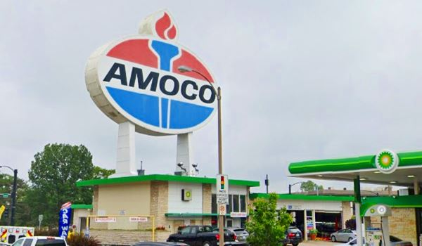 Amoco Sign today in St. Louis Missouri