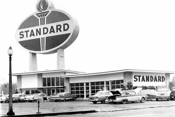 Standard Sign 1961 view in St. Louis Missouri