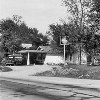 Bell Haven in vintage postcard, US 66 Buckhorn MO