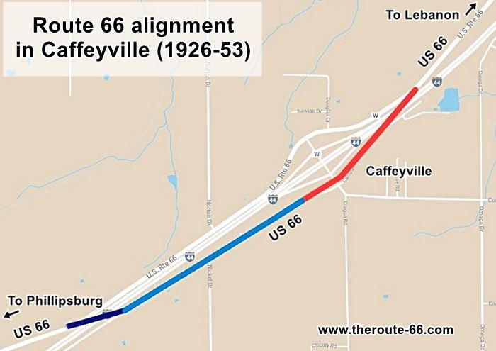 Caffeyville maps