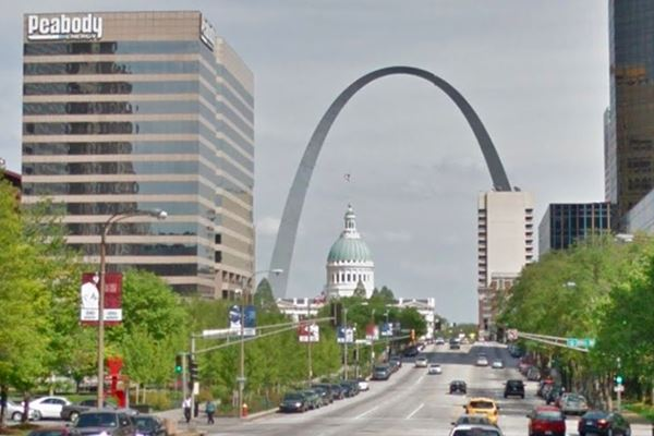 City Route 66 in St. Louis Missouri