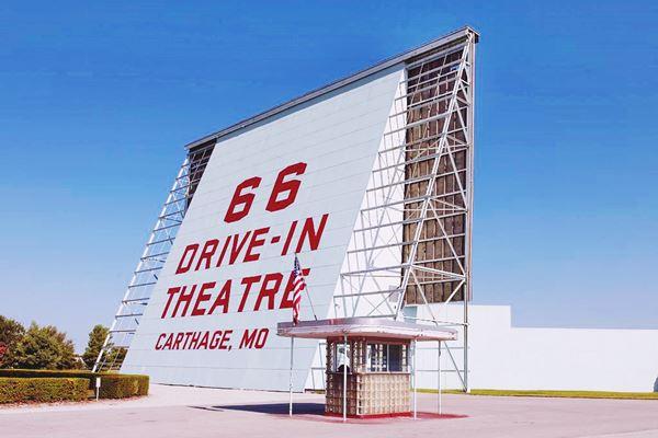66 Drive-In Theatre, Route 66, Carthage, Missouri Route 66