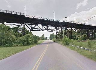 Present view of the old US 66 Viaduct in East St. Louis