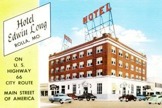 vintage postcard of Edwin Long Hotel