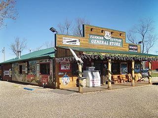 View of the Fanning US 66 Outpost General Store, Route 66 in Fanning, Missouri