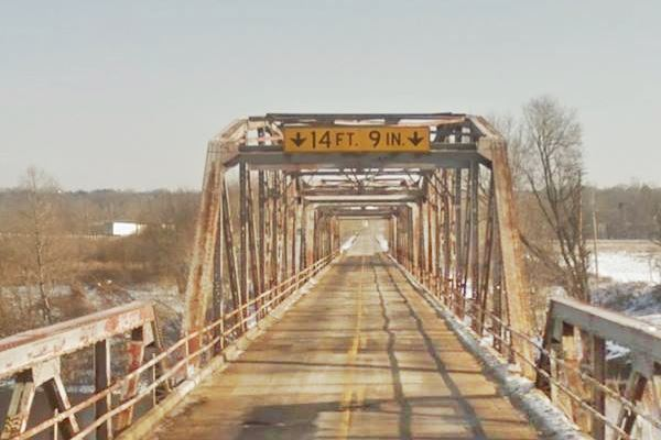 View of the Route 66 Gasconade River Bridge today, on Route 66 in Hazelgreen MO