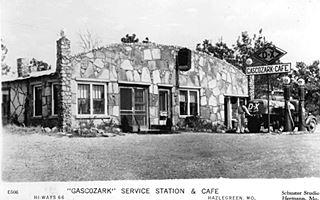 Thumbnail of vintage postcard, Gascozark cafe in Gascozark MO