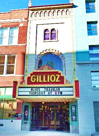Old Gillioz theater on Route 66 in Springfield Missouri
