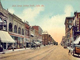 Main St. Joplin Missouri in 1910
