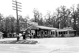 Log City in a vintage postcard Plew MO