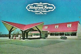 Vintage postcard of Nickerson Farms