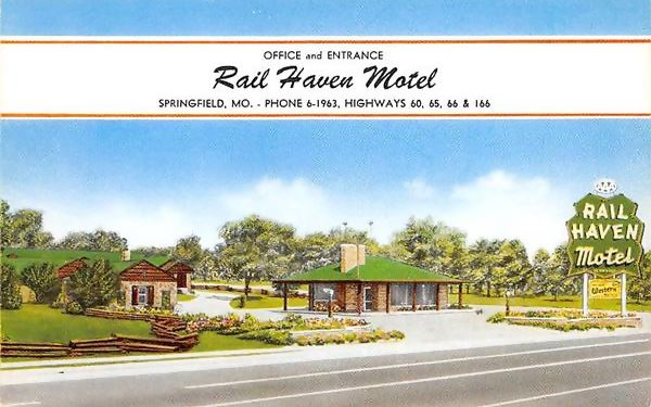 Rail Haven Motel postcard