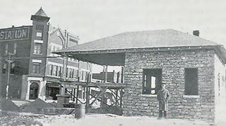 vintage photo of the Old Rock filling Station