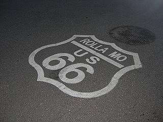 Route 66 shield in Rolla
